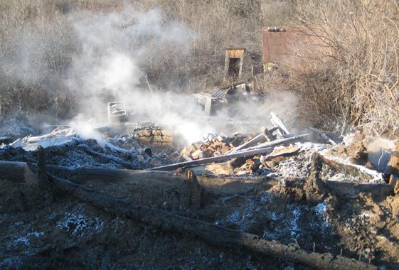 Напожаре в личном доме погибли два человека