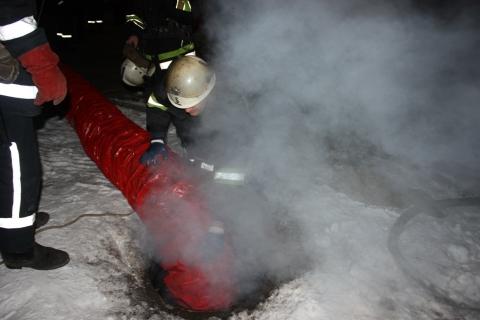 Всгоревшем коллекторе отыскали 2-х мертвых мужчин
