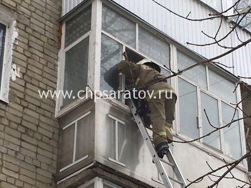 При пожаре наБакинской пострадала женщина
