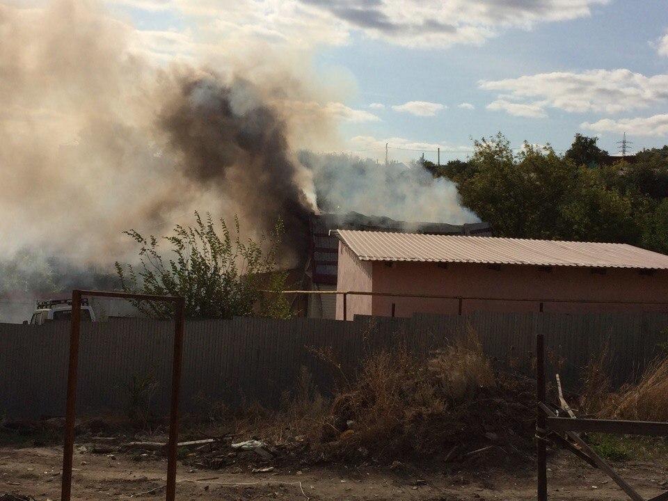 Дом горел вЗаводском районе Саратова